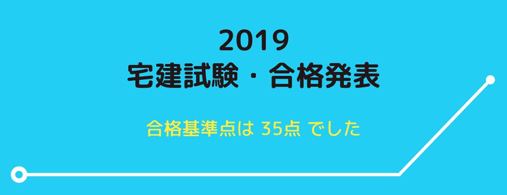 2019(令和元年)宅建試験合格発表
